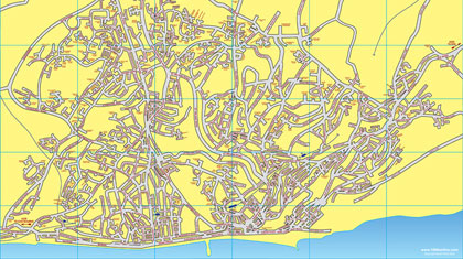 Maps of Hastings & St Leonards, East Sussex