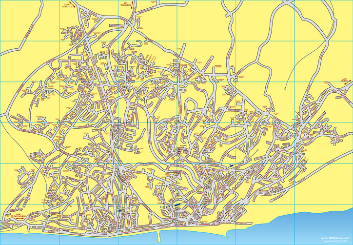 Map Of Hastings Map of Hastings & St Leonards in East Sussex   Hastings UK Map